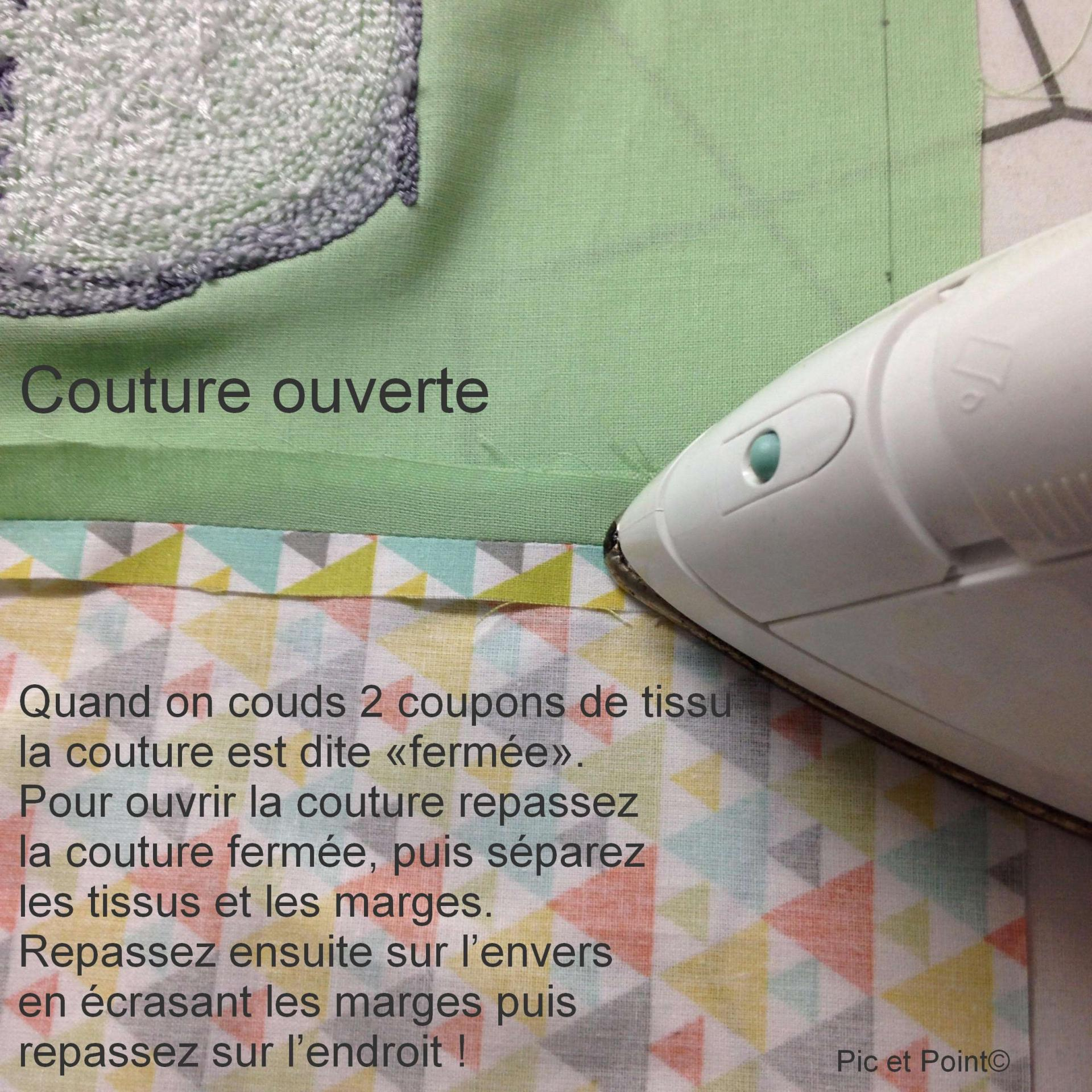 """Ouvrir les coutures"""