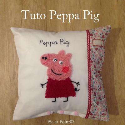 """Housse de coussin """"Pepa Pig"""" Vendu !"""