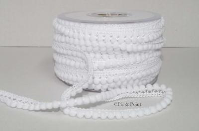 Galon Mini Pompons/Blanc