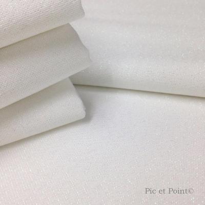 Coupon Toile 12Fils Blanc Zweigart®  Idéal pour l'outil punch needle aiguille fine (1,3mm)
