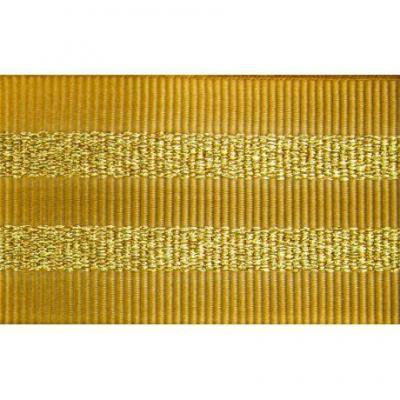Gros Grain DORE Silky rayures dorées 2,5 cm.