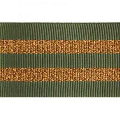 Gros Grain KAKY Silky rayures dorées 2,5 cm.