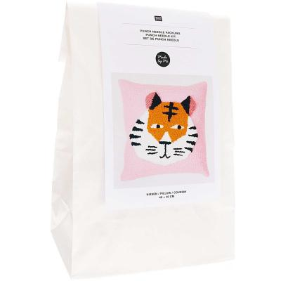 KIT Punch Needle Rico Coussin Tigre