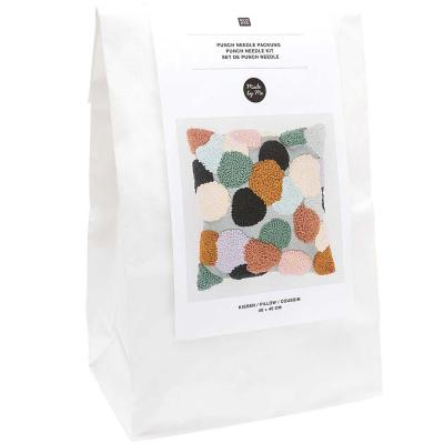 Kit Punch Needle Rico Coussin Pois
