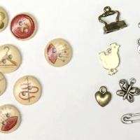 Boutons charms breloques