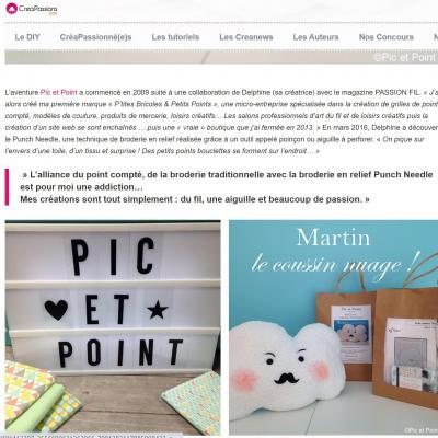 Site CréaPassions Pic et Point !