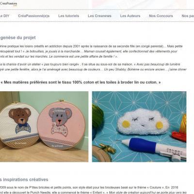 Site CréaPassions Reportage Pic et Point !