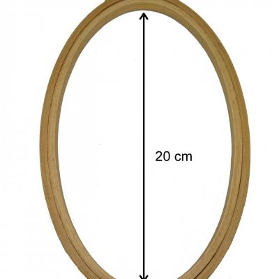 Tambour en bois OVALE pour la Broderie ou le Punch Needle Diam.20cm